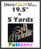 "DecoFilm Soft Metallic Patterns - Heat Transfer Vinyl - 19.5"" x 5 Yds"