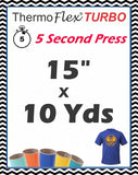 "ThermoFlex® Turbo (Low Temp) Heat Transfer Vinyl, 15"" x 10 Yards"