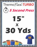 "ThermoFlex® Turbo (Low Temp) Heat Transfer Vinyl, 15"" x 30 Yards"