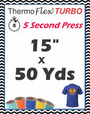 "ThermoFlex® Turbo (Low Temp) Heat Transfer Vinyl, 15"" x 50 Yards"