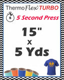 "ThermoFlex® Turbo (Low Temp) Heat Transfer Vinyl, 15"" x 5 Yards"