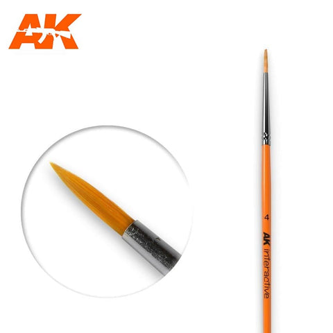 AKI 4 SYNTHETIC ROUND BRUSH