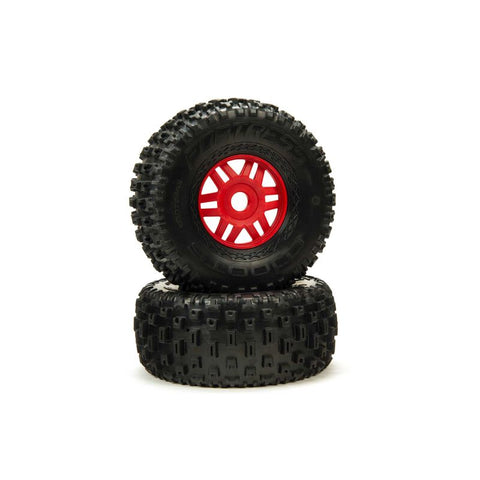 ARRMA FORTRESS TIRE RED