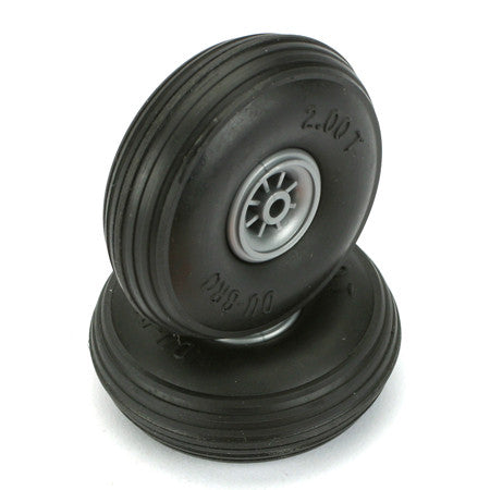 DUBRO TREADED WHEELS 2""