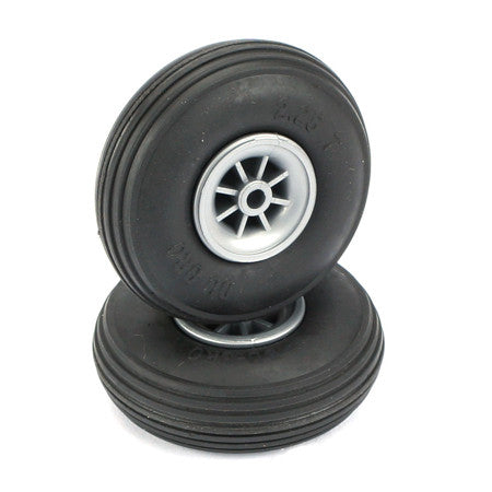 DUBRO TREADED WHEELS 2 1/4""