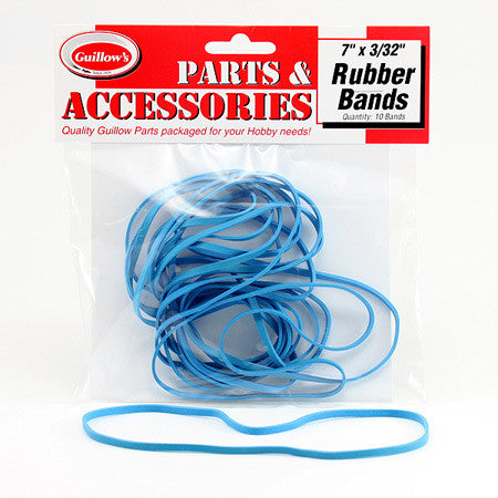 "GUILLOWS 7"" X 3-32 RUBBERBANDS"