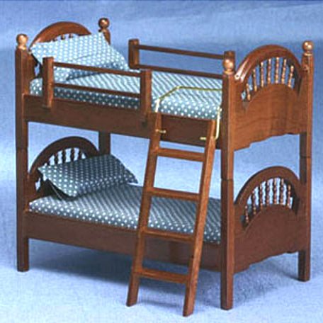 SPINDLE BUNKBED, WALNUT