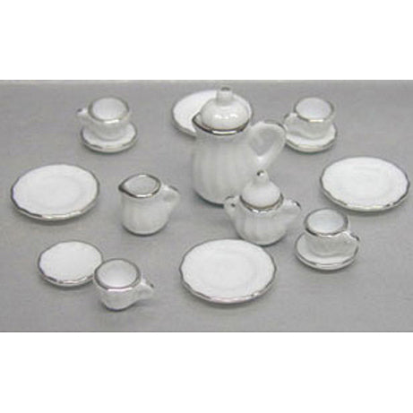 WHITE CHINA 17 PIECE SET