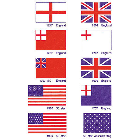 US / BRITISH FLAGS 1/2 x 3/4