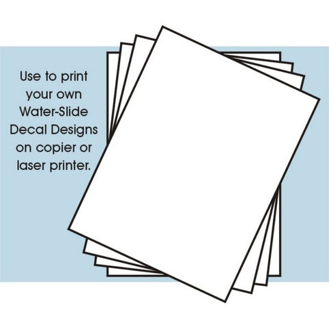 DECAL PAPER WHITE 4-PK