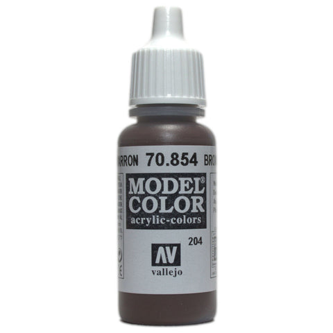 17ML #204 ACRYLIC BROWN GLAZE