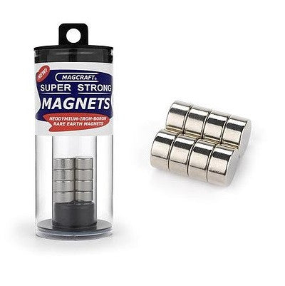 MAGNETS DISC 1/2X1/4""