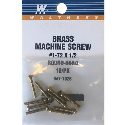 SCREW ROUND HEAD 1-72 1/2""