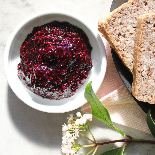 blackcurrant chia jam - JET
