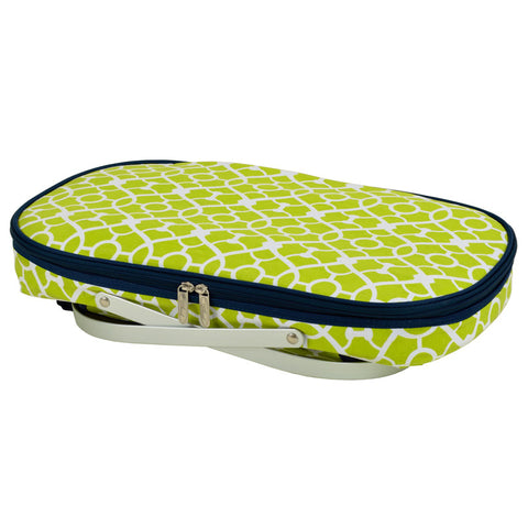Trellis Green Collapsible Insulated Basket