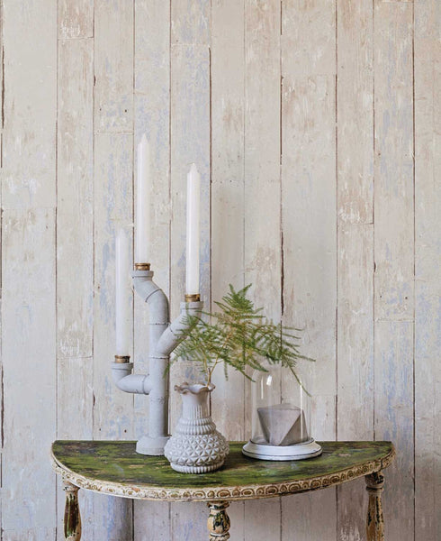 Painted Wood Plank Wallpaper