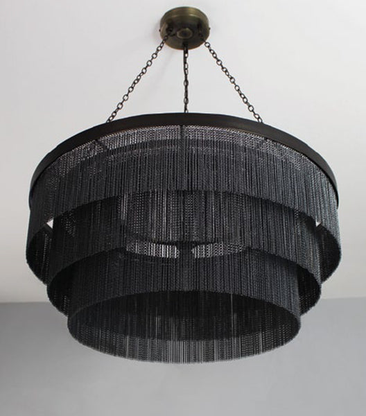 Black Chain Chandelier