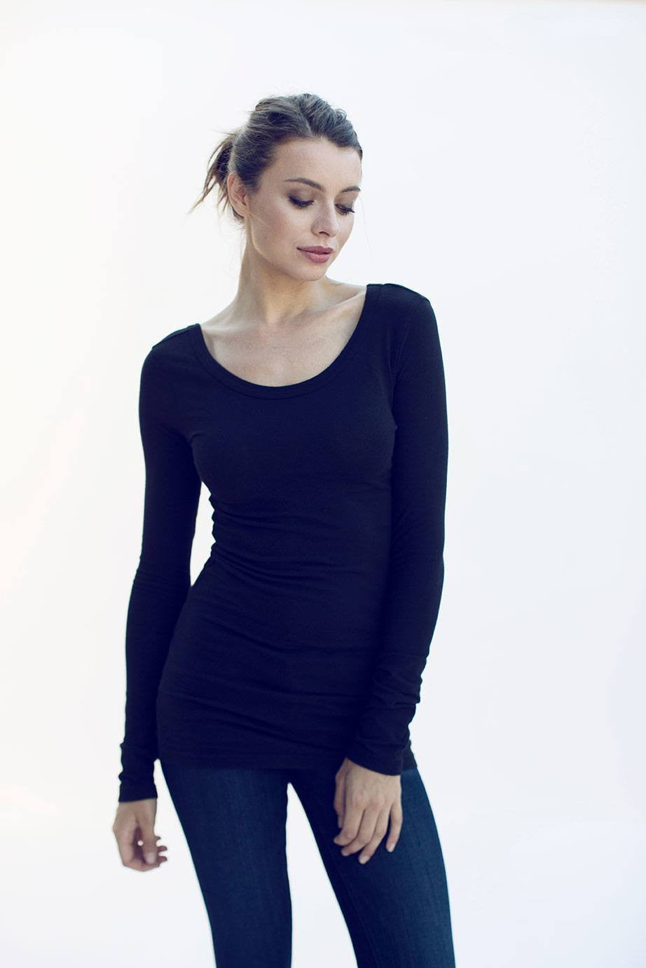 Long Sleeve Scoopneck