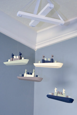 Nautical Ship Nursery Mobile - Flutter Bunny Boutique, LLC  - 1