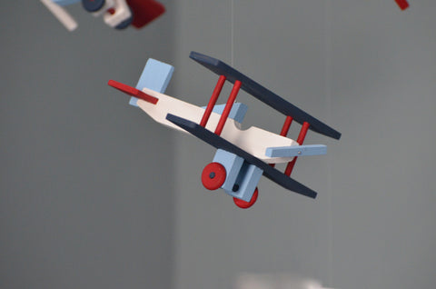 Single Wooden Airplane - Shelf Decor - Flutter Bunny Boutique, LLC