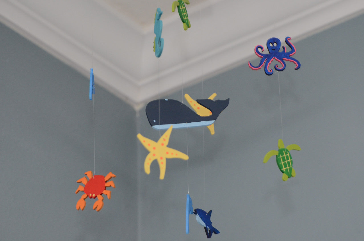 Sea creature under the sea nursery mobile baby decor