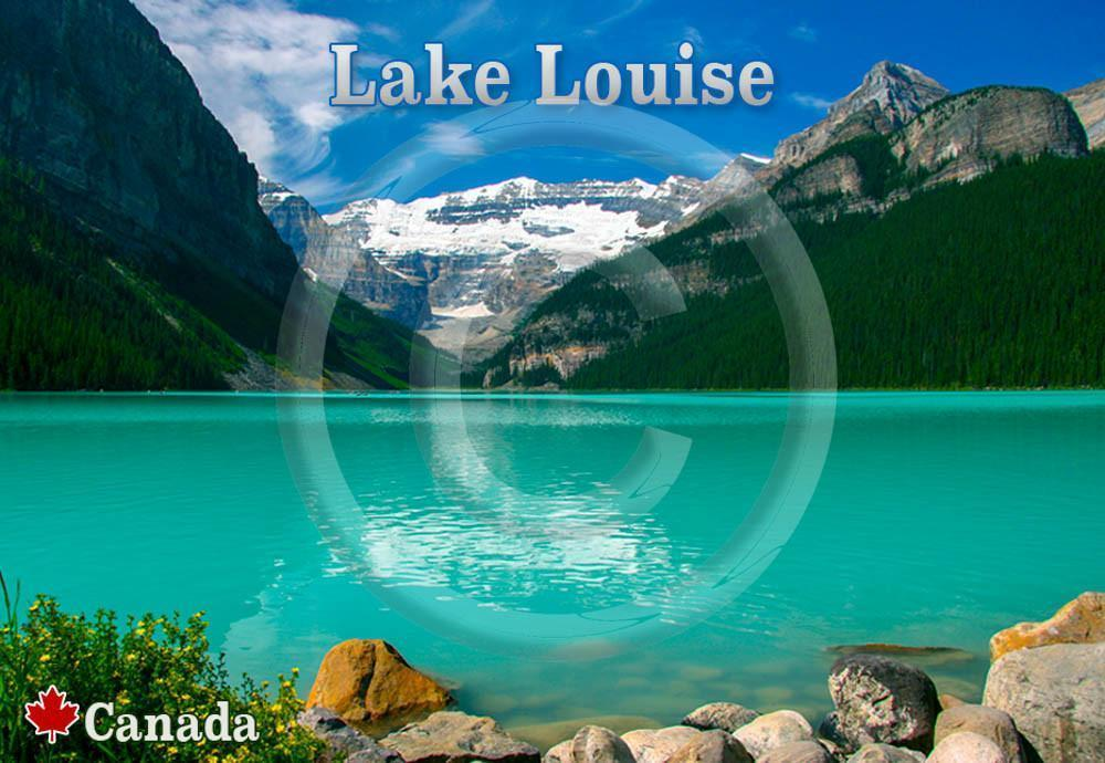Lake Louise Rocks Metal Magnet