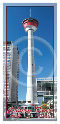 Calgary Tower 4x9 Card