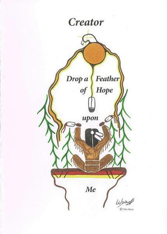 Feather of Hope Greeting Card with Envelope