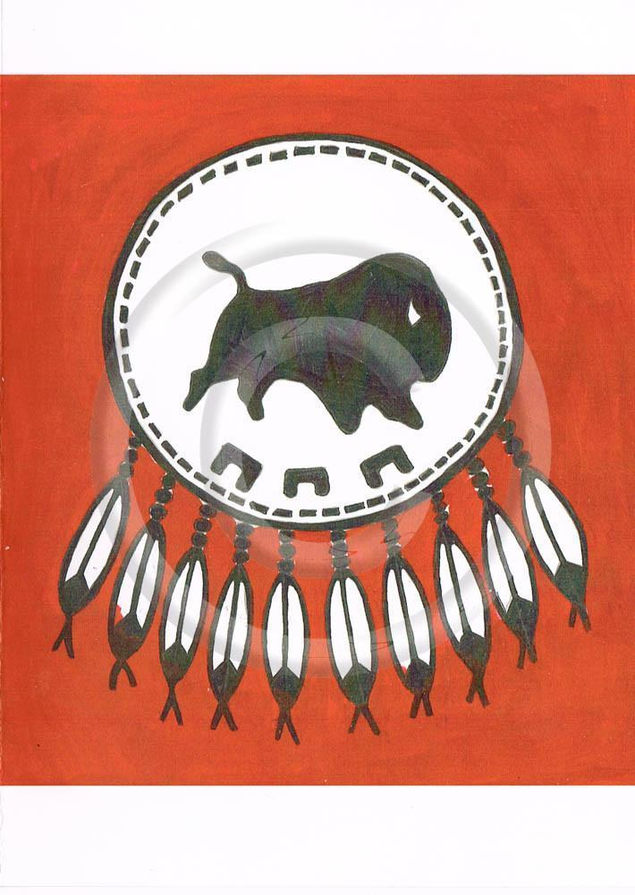 The Piikani Flag Greeting Card with Envelope