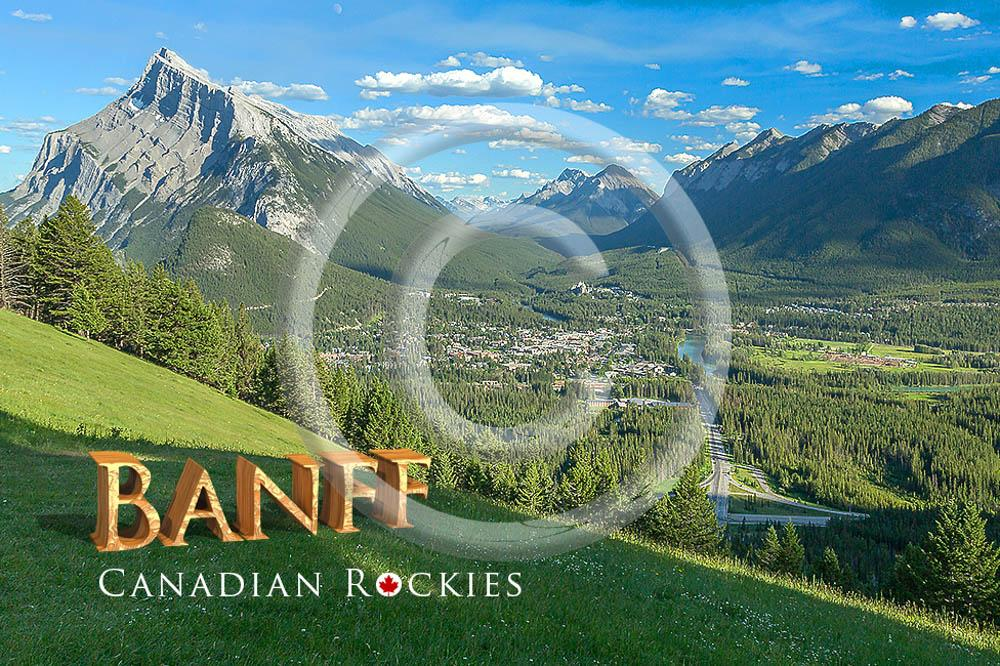 Banff Valleyview Metal Magnet