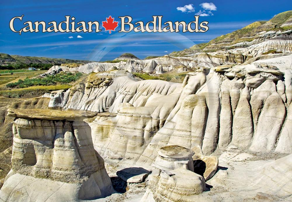 Canadian Badlands Metal Magnet