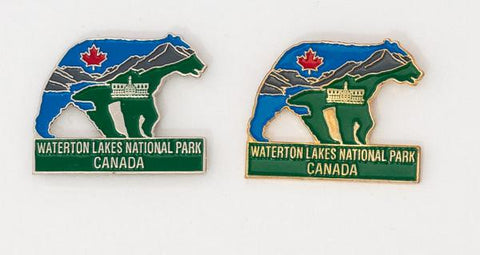 Waterton National Park Bear Lapel Pin