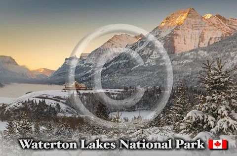 Waterton Winter Metal Magnet
