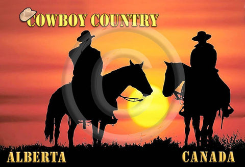 Cowboy Country Metal Magnet