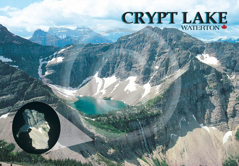 Waterton Crypt Lake/ Tunnel 4x6 Card