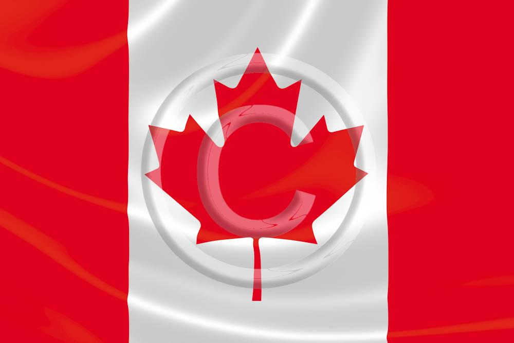 Canada Flying Flag 4x6 Card
