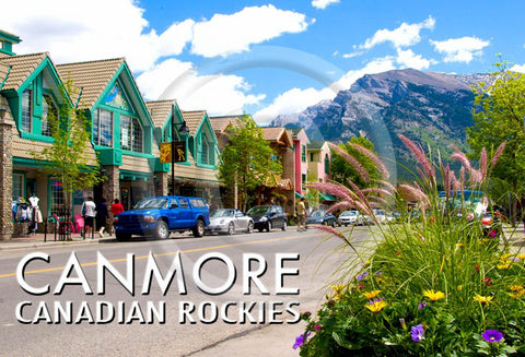 Canmore Main Street Metal Magnet
