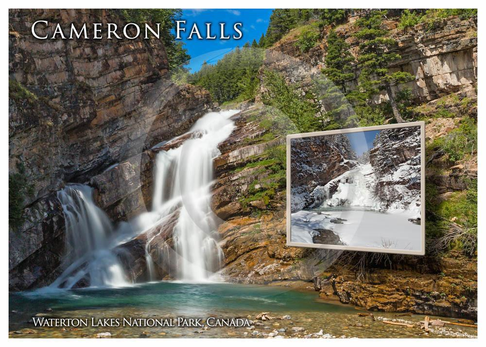 Cameron Falls - Summer/Winter 5x7 Card