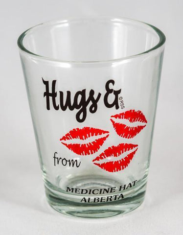 Medicine Hat Hugs Shot Glass