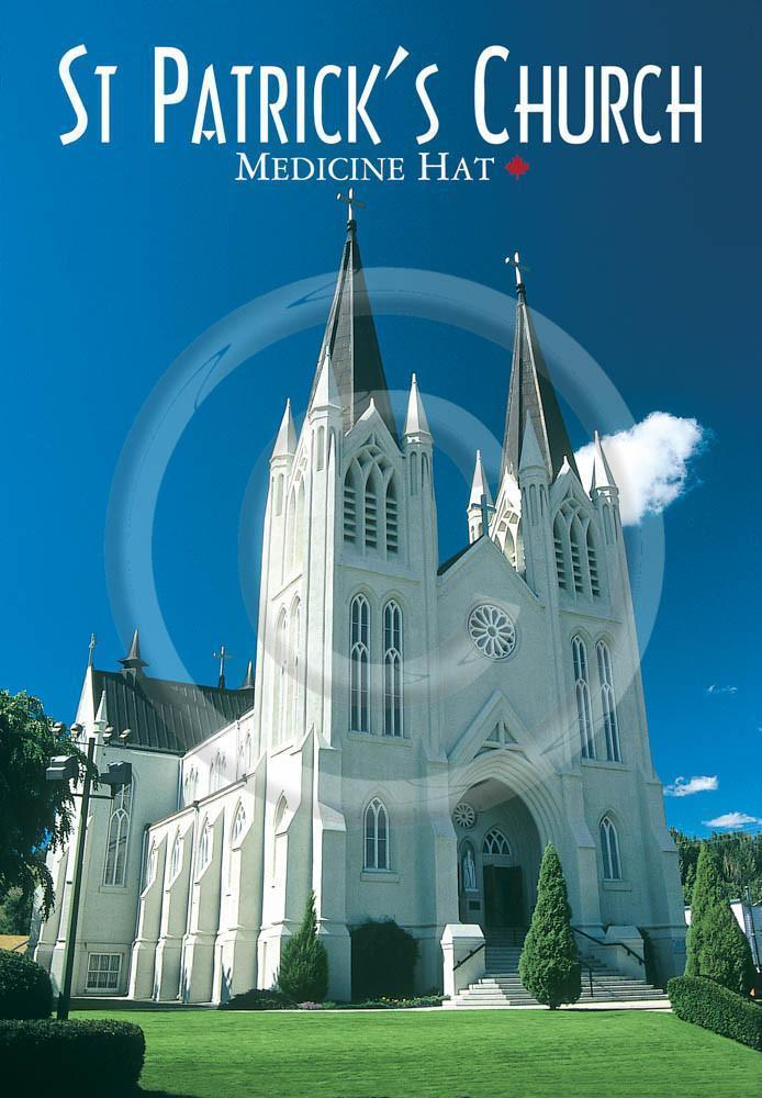 Medicine Hat St Patricks Church 4x6 Card