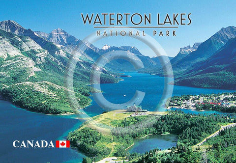Waterton Vista Metal Magnet