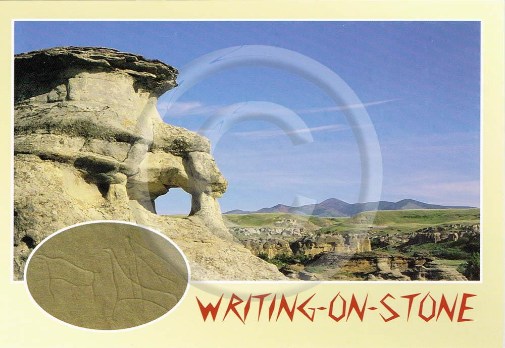 Writing-on-Stone 4x6 Card