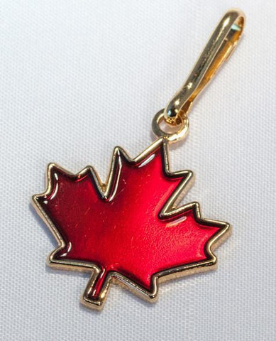 Maple Leaf Zipper Pull