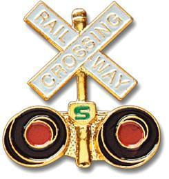 Railway Crossing Arms Lapel Pin