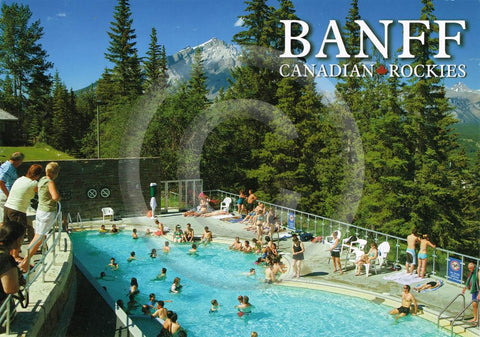Banff Upper Hot Springs 5x7 Card