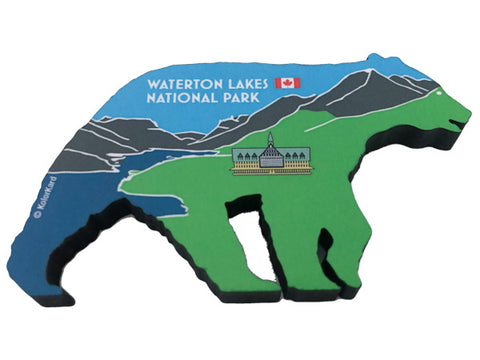 Waterton Bear Wood Magnet
