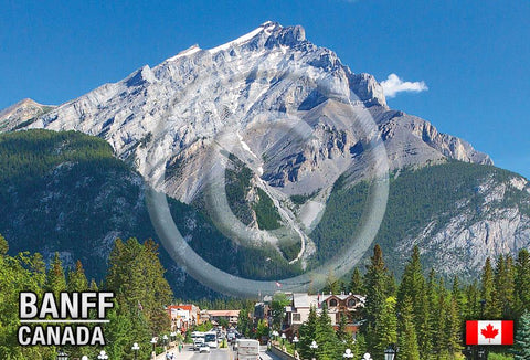Cascade Mountain Banff Metal Magnet