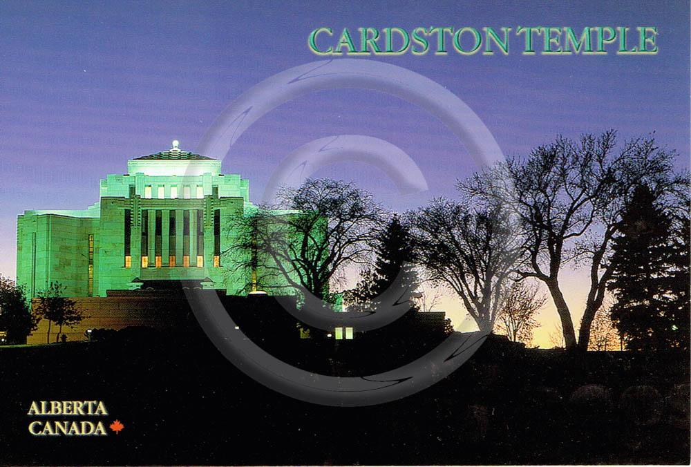 Cardston Temple 4x6 Card