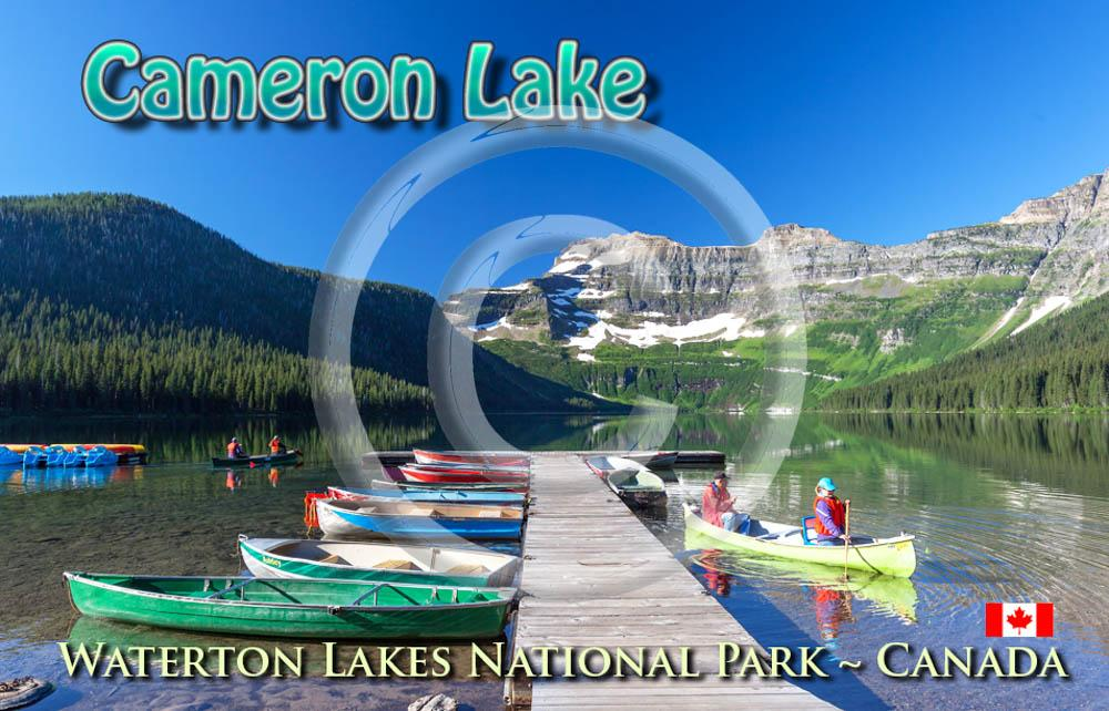 Cameron Lake Canoes Metal Magnet
