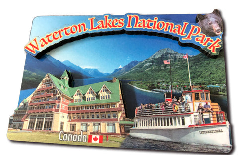 Waterton Lakes Wood Magnet